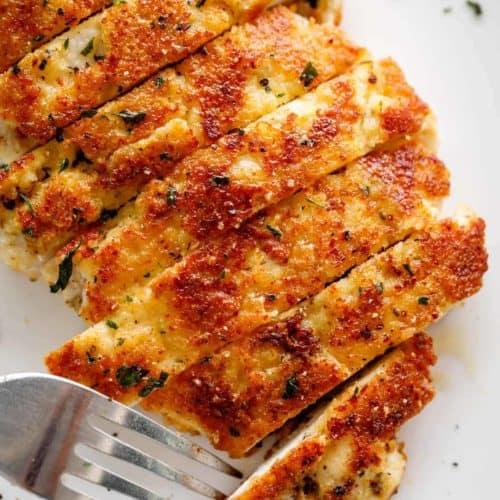 Parmesan Crusted Chicken | cafedelites.com