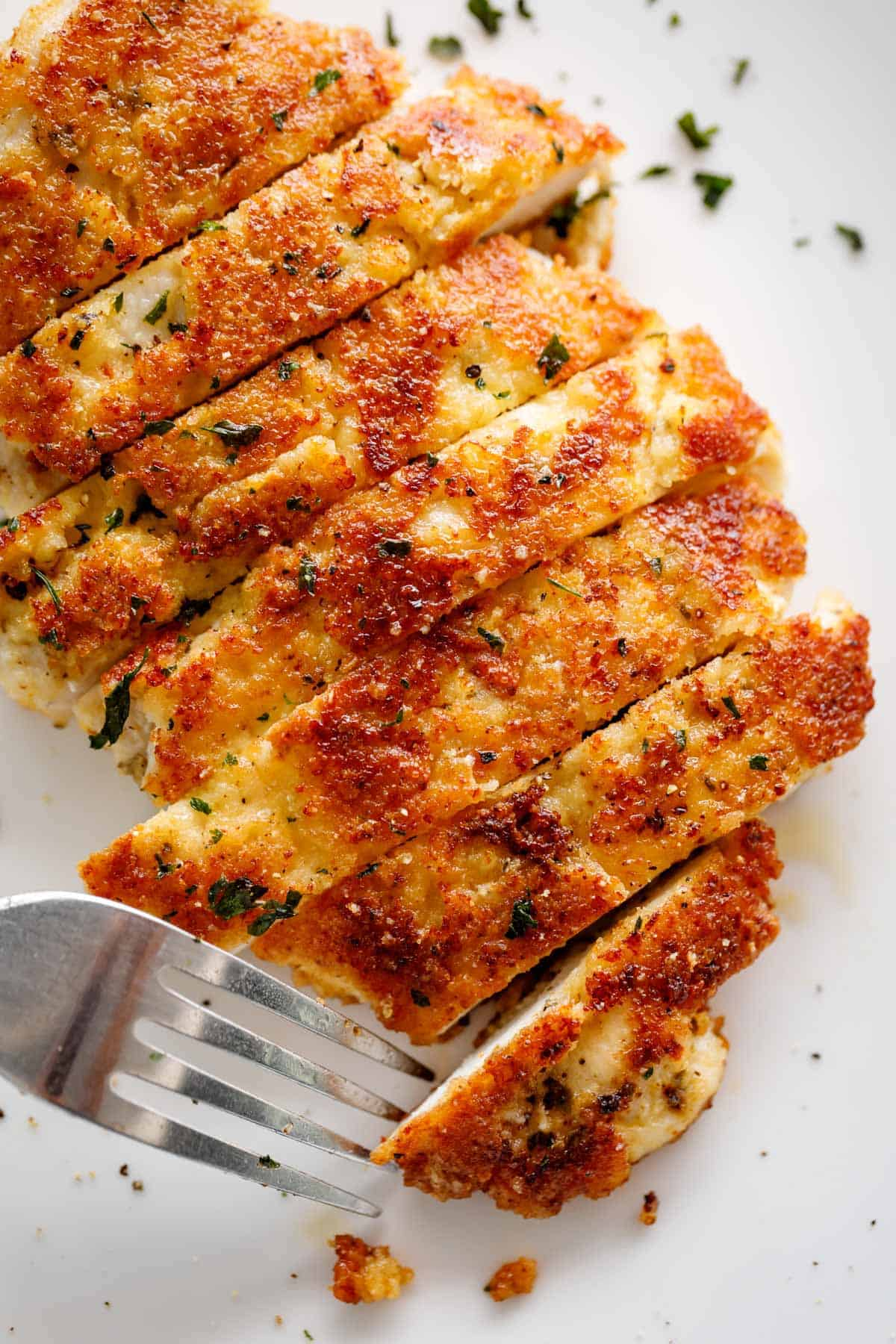 Parmesan Crusted Chicken | cafedelites.com