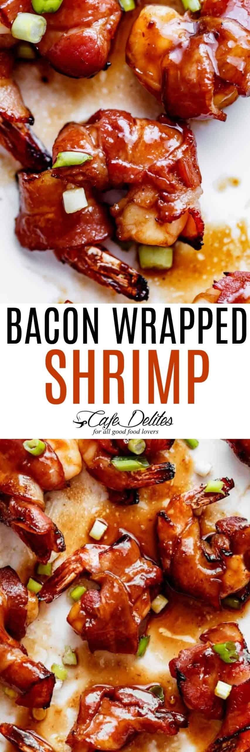Bacon Wrapped Shrimp | cafedelites.com