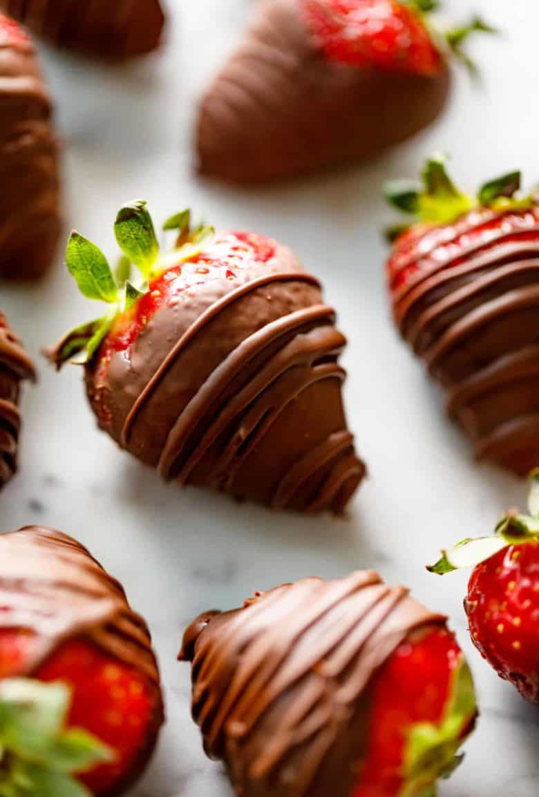 Chocolate Covered Strawberries   cafedelites.com