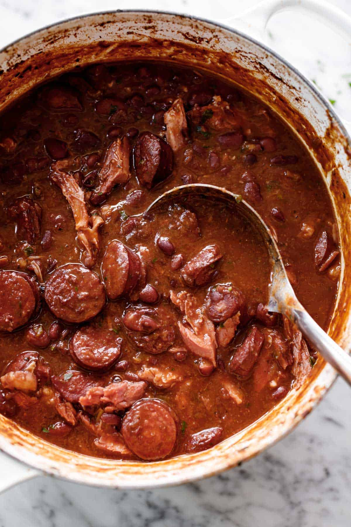 Red Beans and Rice perfect for Mardi Gras | cafedelites.com