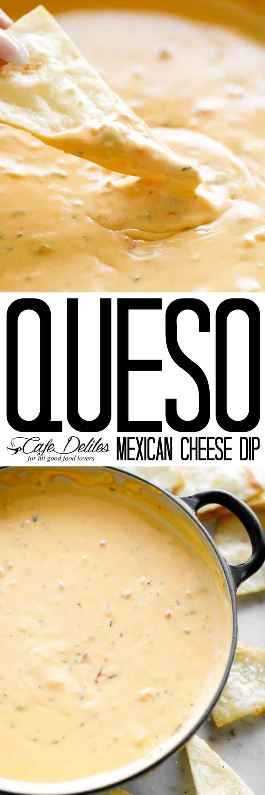 Queso Mexican Cheese Dip | cafedelites.com
