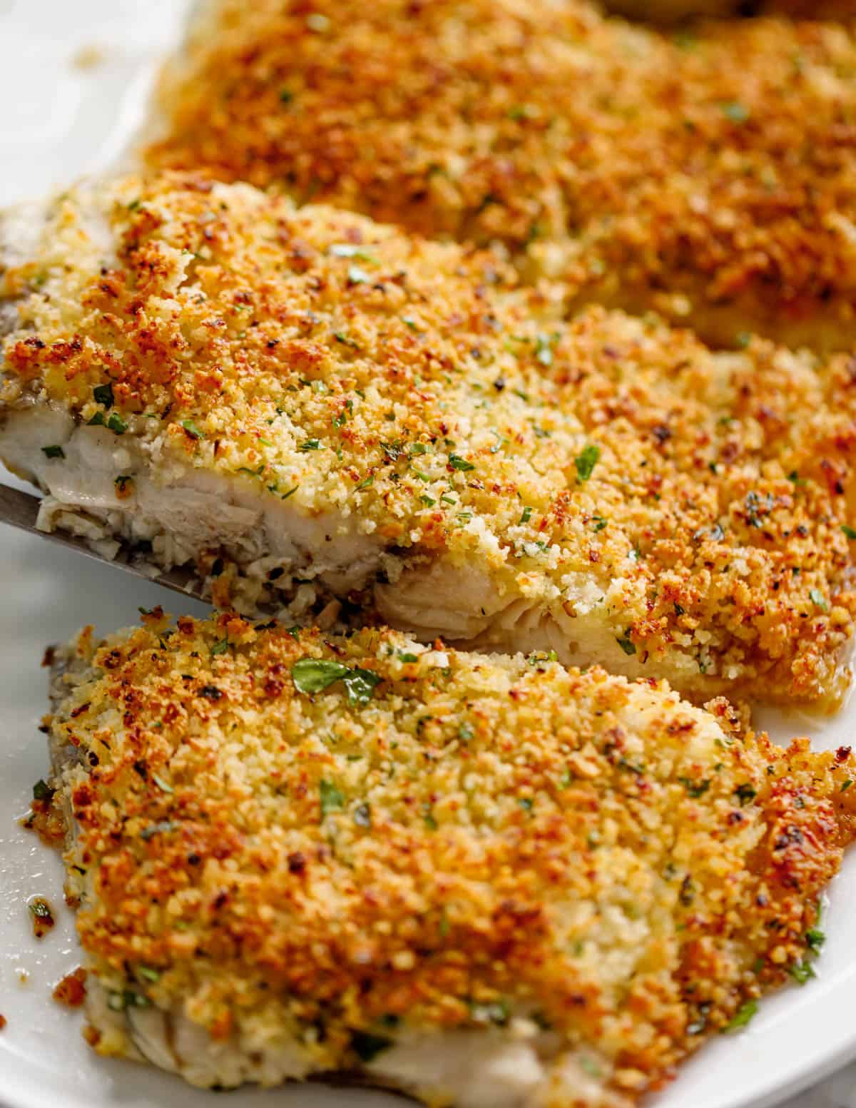 Garlic Parmesan Crumbed Fish Cafe Delites