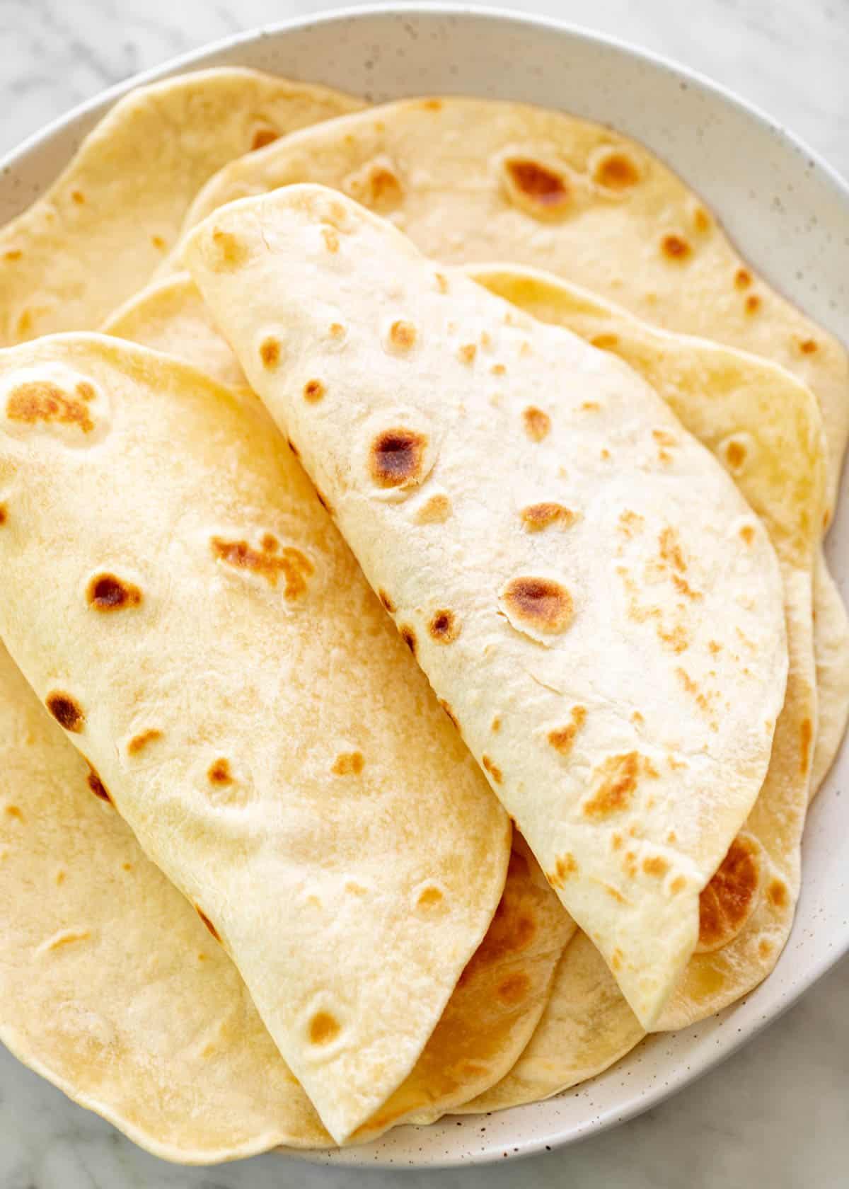 Folded flour tortillas | cafedelites.com